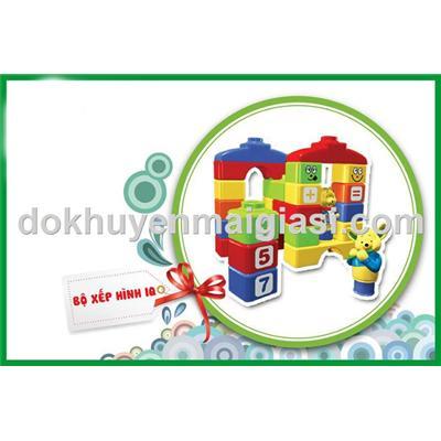 Bộ xếp hình sáng tạo Nuti 28 miếng bằng nhựa