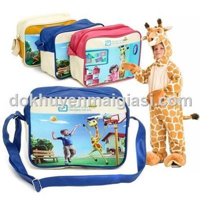 Túi Abbott 2 ngăn chống ướt màu xanh cho bé - 24cm x 18cm x 10cm