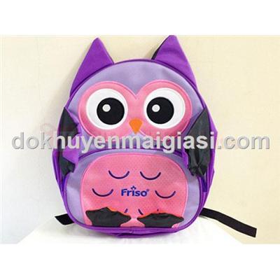 Balo Friso hình cú mèo tím đáng yêu cho bé mẫu giáo