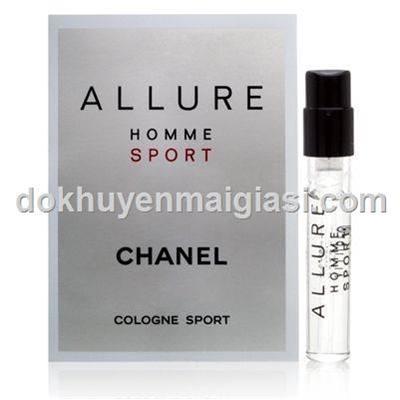 Nước hoa Allure Home Sport Chanel Vial 2ml cho nam dạng xịt - Made in France, bao xài đến hết