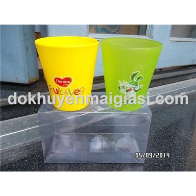 Bộ 2 ly uống nước bằng nhựa Thái Lan cho bé - Sữa Dumex tặng