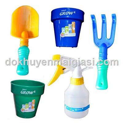 Bộ dụng cụ làm vườn Abbott 5 món bằng nhựa cho bé