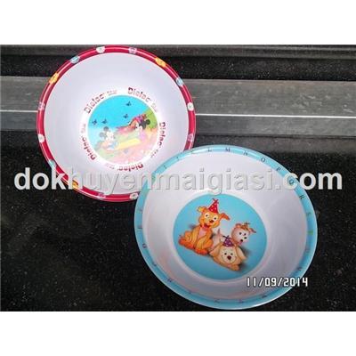 Chén ăn Melamine hoạt hình cho bé