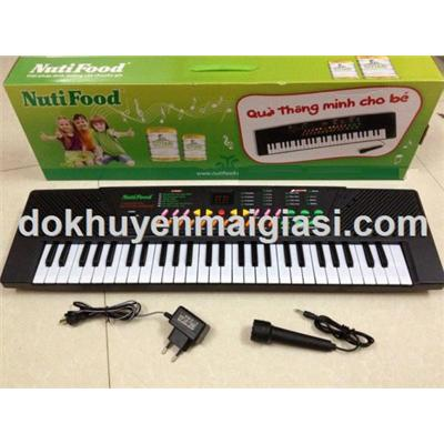 Đàn Organ Nuti 54 phím cho bé - Dùng pin và điện, có micro