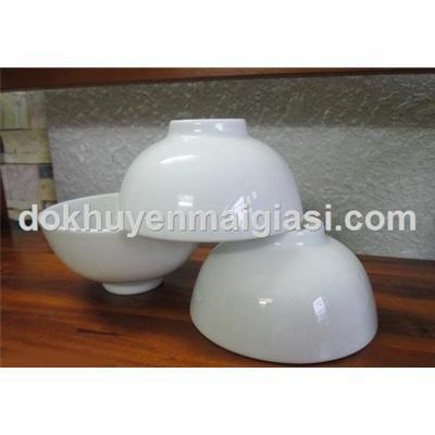 Bộ 3 chén sứ trắng Minh Long