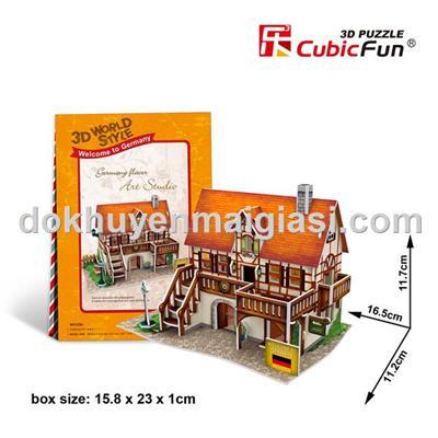 Bộ xếp hình 3D Abbott Grow bằng giấy cho bé tập làm kiến trúc sư