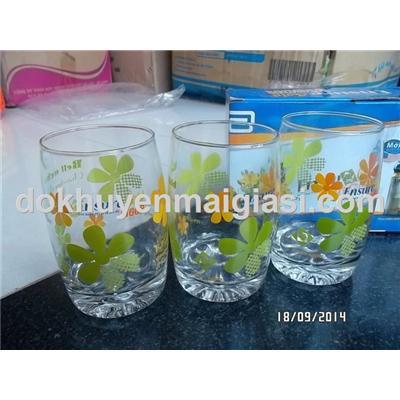 Bộ 3 ly thủy tinh hoa Ensure