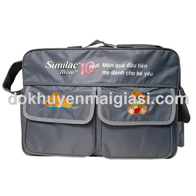 Túi xách Similac Mom vải dù nhiều cho mẹ - Màu xám - Kích thước: 45 x 30 x 15 cm
