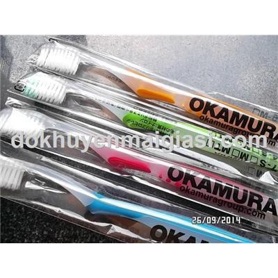 Bàn chải đánh răng Okamura (Nhật) cao cấp siêu mềm dành cho người lớn - Loại không vỉ