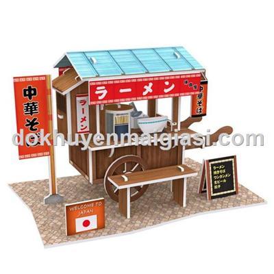 Bộ xếp hình 3D Cubic Fun - Xe mì truyền thống của Nhật