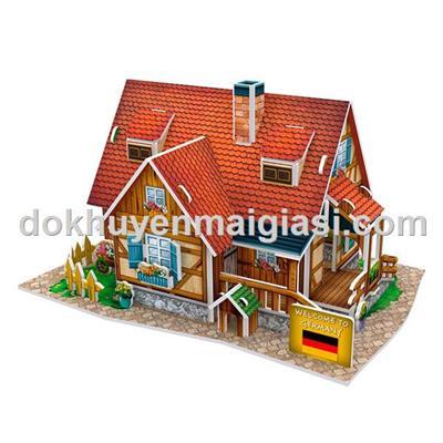 Bộ xếp hình 3D Cubic Fun - Nhà nông thôn Đức