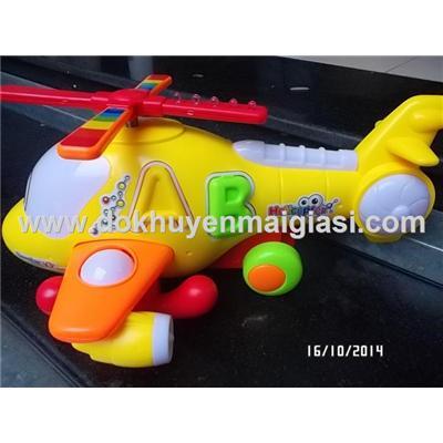 Máy bay trực thăng Abbott có nhạc, đèn - Tặng pin - Màu vàng