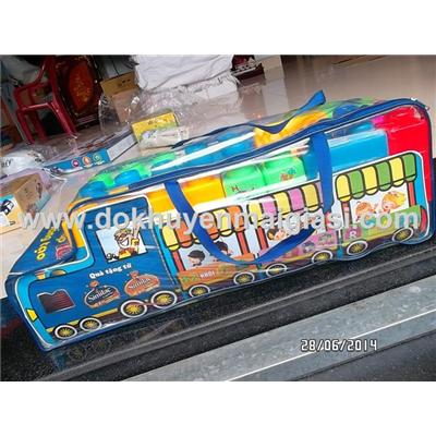 Bộ ghép hình xe buýt Abbott - nhựa Chợ Lớn 82 miếng cỡ đại