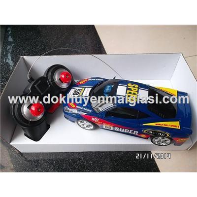 Màu xanh: Xe điều khiển Enfa có đèn kiểu dáng thể thao - Tặng kèm 5 viên pin