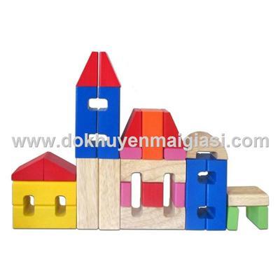 Bộ xếp hình lâu đài bằng gỗ Winwintoys của P&G tặng