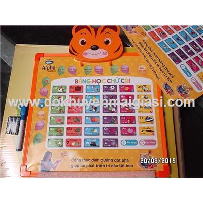Hổ cam: Bảng học thông minh Dielac 2 mặt cho bé dùng pin - Học tiếng Việt, tiếng Anh (tặng pin)