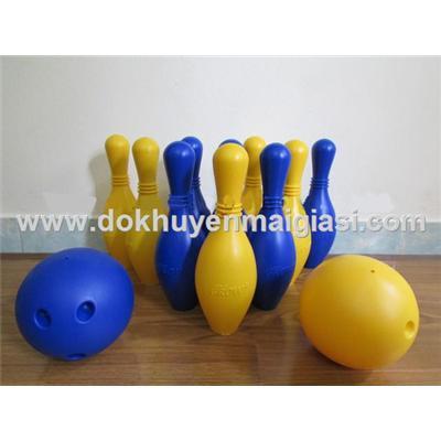 Bộ bowling Abbott bằng nhựa 10 ky cỡ lớn cho bé (nhựa dày hơn loại 8 ky)