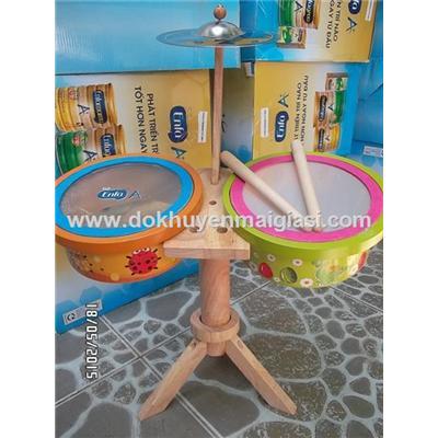 Bộ trống gỗ Enfa siêu ngầu cho bé