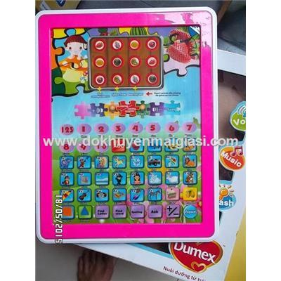 Màu hồng: Ipad Dumex (đồ chơi) thông minh dùng pin cho bé học mà chơi - Tặng kèm pin