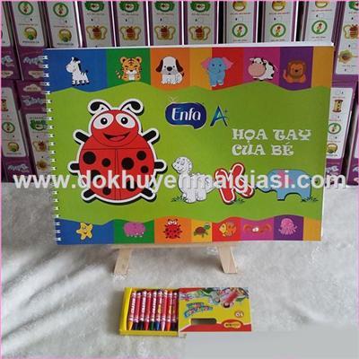 Bộ giá vẽ + sách tô màu và xếp hình Enfa