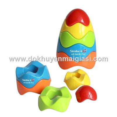 Trò chơi xếp trứng bằng nhựa có lục lạc của sữa Abbott tặng