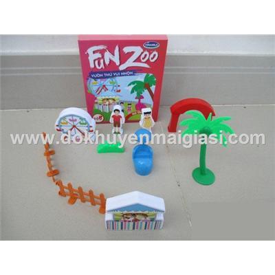 Vườn thú vui nhộn Vinamilk bằng nhựa - Bộ 8