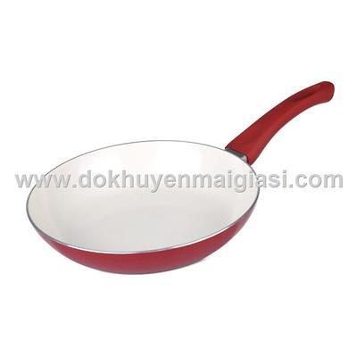Đỏ - Chảo Lock & Lock Ceramic 24cm chống dính Sharp tặng - Dùng được tất cả các loại bếp