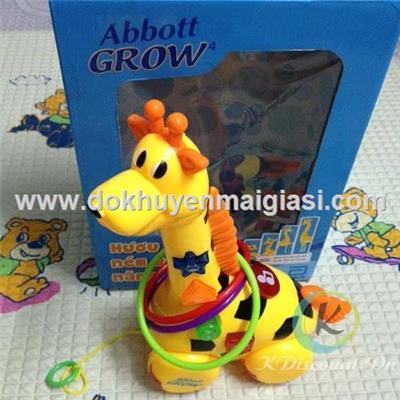 Hươu kéo ném vòng Abbott Grow dùng pin có đèn, nhạc - Tặng kèm pin
