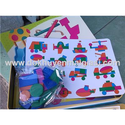 Hộp thiếc đồ chơi ghép hình thông minh Enfa