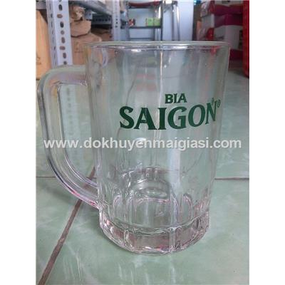 Hộp 6 ly thủy tinh Lotus có quai Bia Sài Gòn tặng - Dung tích ly 300 ml