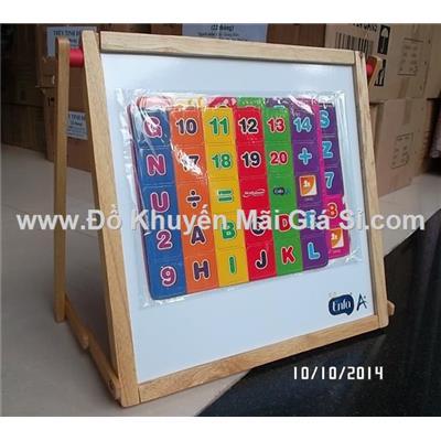Bảng gỗ Enfa cho bé học chữ số - Kèm bộ chữ số nam châm