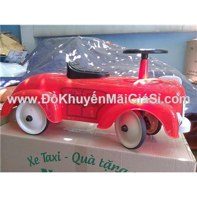 Đỏ: Xe taxi chòi chân Nuti bằng nhựa cho bé <= 25 ký - Phí giao hàng tính riêng 20 ngàn