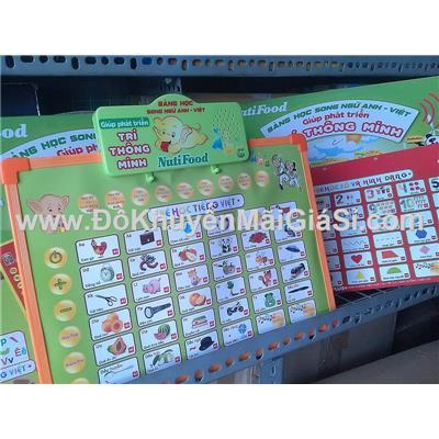 Bảng học thông minh Nutifood 2 mặt cho bé học tiếng Anh, tiếng Việt - Tặng pin