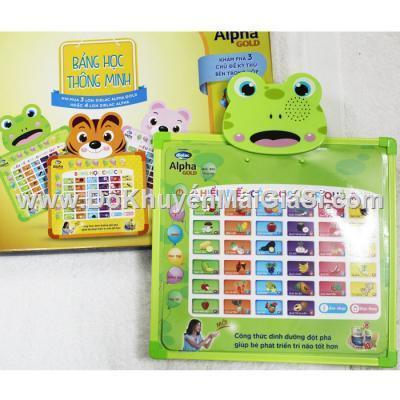 Ếch xanh: Bảng học thông minh Dielac 2 mặt cho bé dùng pin - Học tiếng Việt, tiếng Anh (tặng pin)