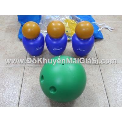 Bộ bowling Abbott bằng nhựa 3 ky kiểu mới cho bé (ky được thiết kế giống con lật đật chống lăn)