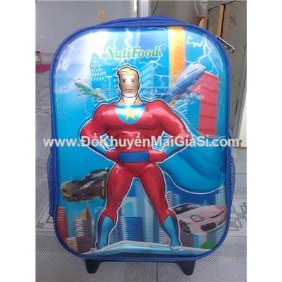 Balo kéo Nuti 3D hình siêu nhân cho bé trai  Balo keo Nuti 3D hinh sieu nhan cho be trai