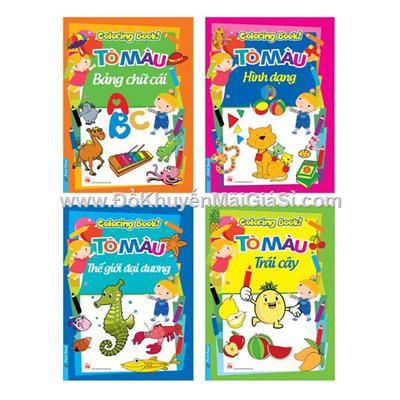 Bộ 6 quyển sách tô màu Similac IQ Plus Abbott khổ A4