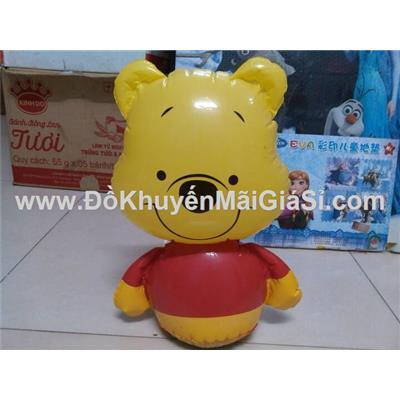 Lật đật bơm hơi có lục lạc hình gấu Pooh của sữa Dumex tặng