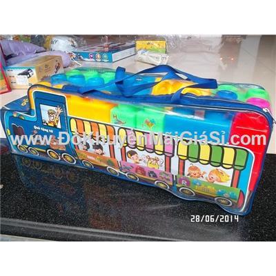 Bộ ghép hình sáng tạo xe buýt Abbott - nhựa Chợ Lớn 82 miếng cỡ đại