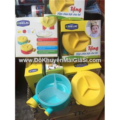 Hộp chia sữa/ bột Dielac 3 ngăn tiện lợi cho mẹ và bé