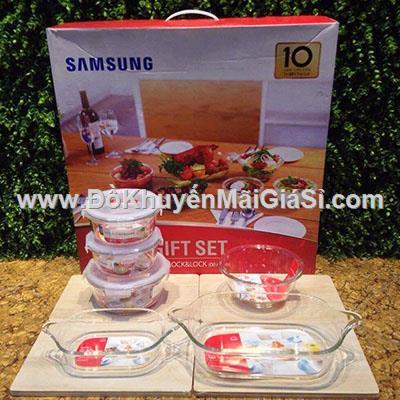 Bộ thủy tinh chịu nhiệt Lock & Lock 6 món Samsung tặng