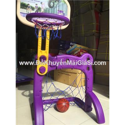 Bộ trò chơi kết hợp khung thành + bóng rổ Pedia Sure cho bé tăng cường vận động