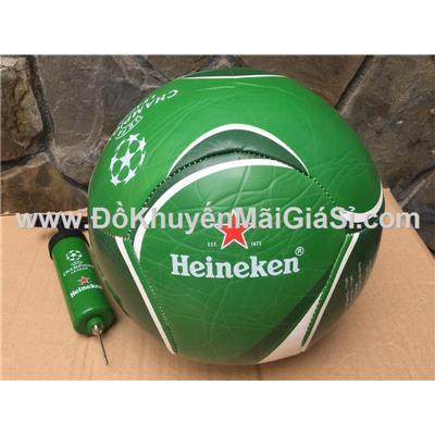 Trái banh da cao cấp Heineken kèm ống bơm
