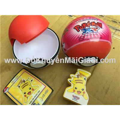 Bộ 2 bóng nhựa chứa Pokemon - Sữa Susu Vinamilk tặng