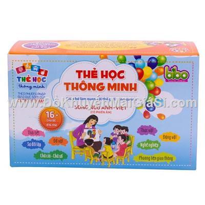 Bộ thẻ học thông minh Anh - Việt cho bé 16 chủ đề (416 thẻ)