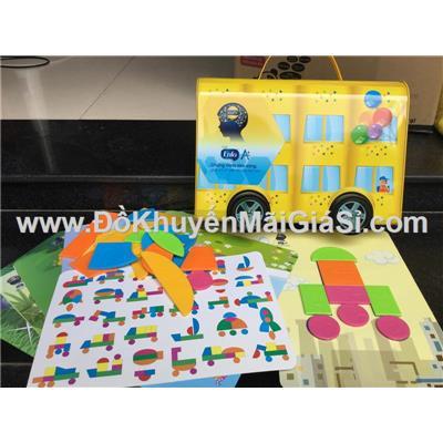 Bộ đồ chơi xếp hình hộp thiếc xe hơi Enfa cho bé - Kt hộp: (32 x 22 x 6) cm - GG10