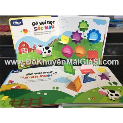 """Bộ 2 cuốn sách học tương tác """"Sắc màu và hình khối"""" sữa Friso tặng - (Kt: 23 x 23) cm"""