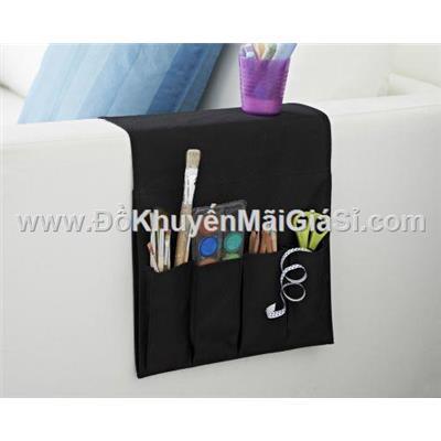 Đen/ Đỏ: Túi vải đa năng Ikea 5 ngăn - Kích thước: (94 x 32) cm