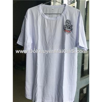 Áo thun Sư tử trắng cổ tròn vải mát cho nam - Có size L, XL