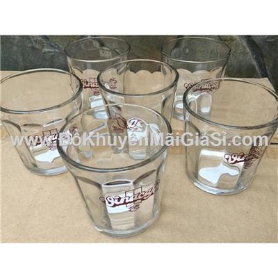 Sọc lớn: Hộp 6 ly thủy tinh uống trà đá Vinacafe tặng - Dung tích ly: 260 ml